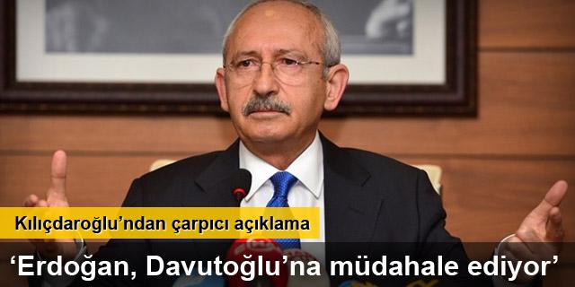 'Davutoğlu istiyor, Erdoğan izin vermiyor'
