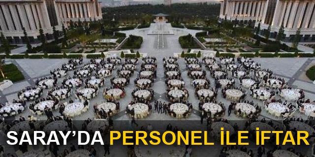 Erdoğan, Saray personeline iftar verdi