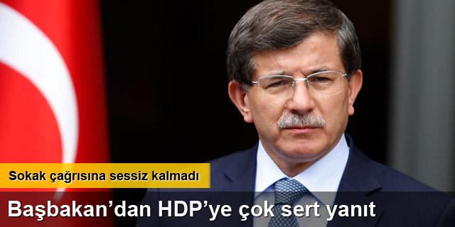 HDP'nin çağrısına Davutoğlu yanıt verdi