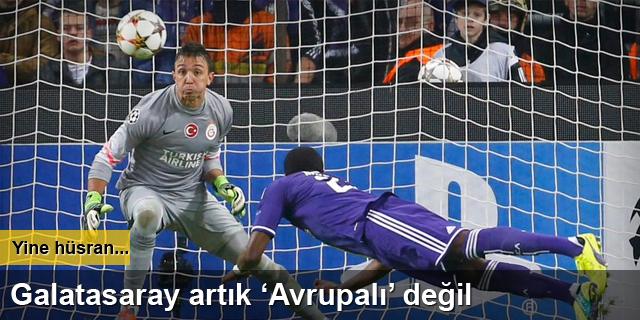 Galatasaray artık Avrupalı değil