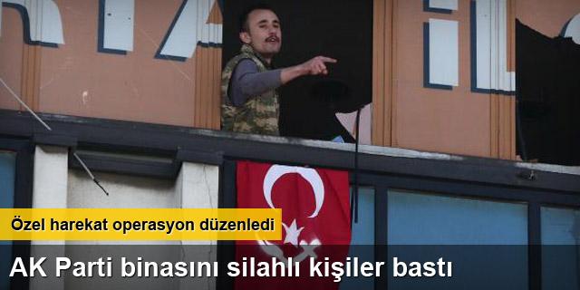 AK Parti binasını silahlı kişiler bastı