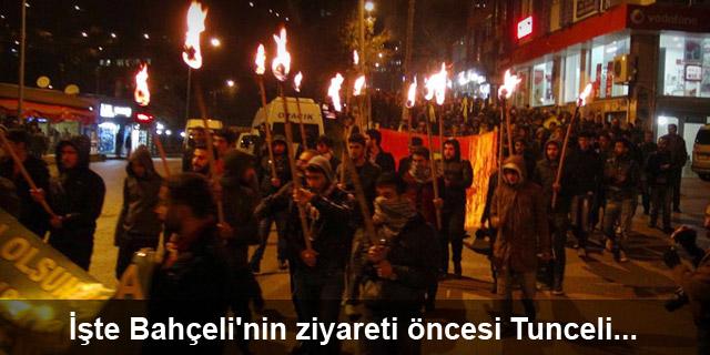 Bahçeli'nin ziyareti öncesi Tunceli'de eylem