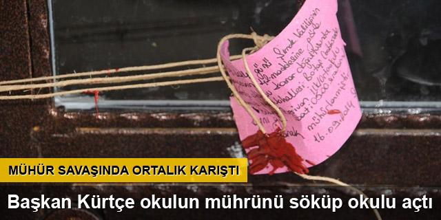 Başkan Kürtçe okulun mührünü söktü!