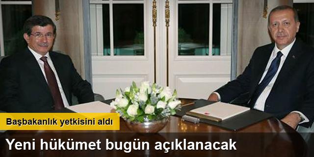 Davutoğlu başbakanlık yetkisini aldı