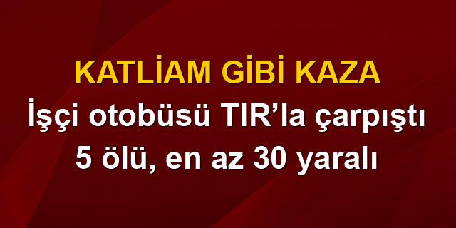 Antalya'da katliam gibi kaza!