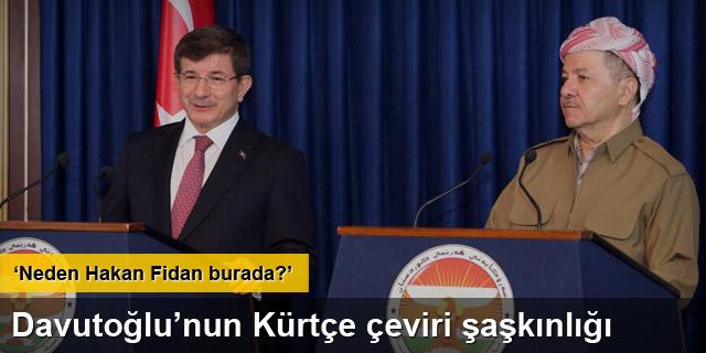Davutoğlu, Barzani ile görüştü