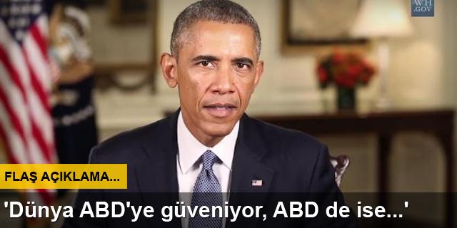 Obama: ABD'ye güveniyor, ABD de askerlerine