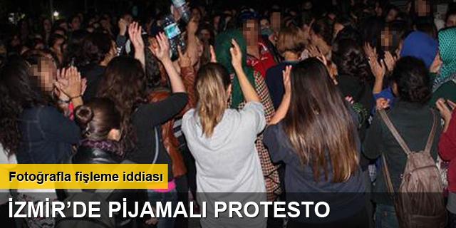 İzmir'de pijamalı protesto