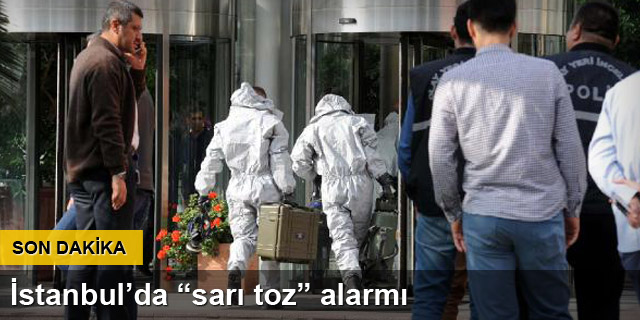 İstanbul'da 'sarı toz' alarmı
