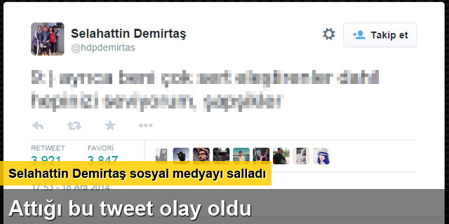 Selahattin Demirtaş'tan 'şapşik' tweeti