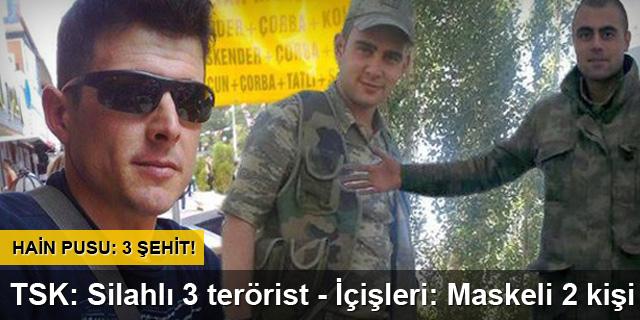 PKK saldırdı: Üç asker şehit